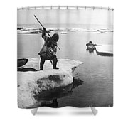 Eskimo Fishermen Shower Curtain