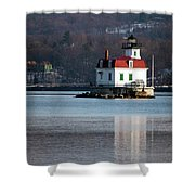 Esopus Lighthouse In December Shower Curtain