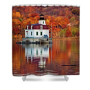 Esopus Lighthouse In Late Fall #2 Shower Curtain