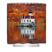 Esopus Lighthouse In Late Fall #3 Shower Curtain