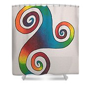 Espiral De Arco Iris Shower Curtain