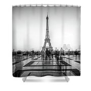 Esplanade Du Trocadero Shower Curtain