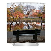 Esplanade View Shower Curtain by Susan Cole Kelly