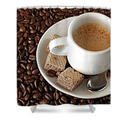 Espresso Coffee Shower Curtain