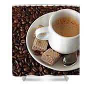 Espresso Coffee Shower Curtain by Carlos Caetano