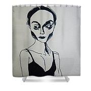 Essence Of Black Dimension Shower Curtain