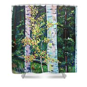 Essence Of Pale Bark Shower Curtain