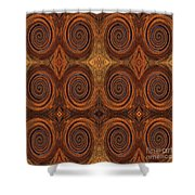 Essence Of Rust - Tiled Shower Curtain