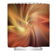 Essential Vibrations Of Light Shower Curtain