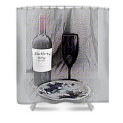 Est 2017 Blackberry Wine Shower Curtain