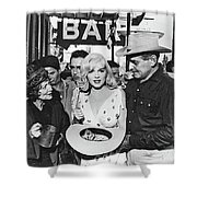 Estelle Winwood Marilyn Monroe Clark Gable Eli Wallach Montgomery Clift The Misfits Reno Nevada 1961 Shower Curtain