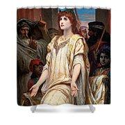 Esther Before Ahasuerus Shower Curtain
