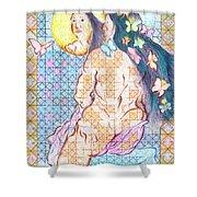 Estrella De La Manana Morning Star Shower Curtain