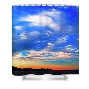 Estuary Skyscape Shower Curtain