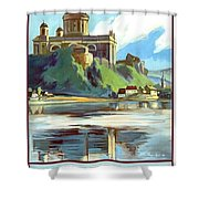 Esztergom, Beautiful City On Danube River, Hungary,  Shower Curtain