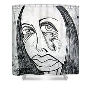 Etching  Shower Curtain