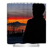 Eternal Sunset Shower Curtain