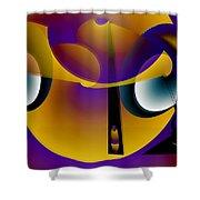 Eternity Clock Shower Curtain