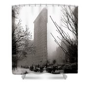 Ethereal Flat Iron Shower Curtain
