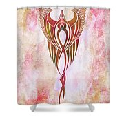Ethereal Flight Contemporary Minimalism Shower Curtain