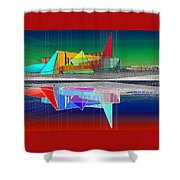 Ethereal Reflections Shower Curtain