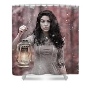 Ethereal Snow Beauty Shower Curtain
