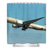 Ethiad Cargo Boeing B777 Shower Curtain