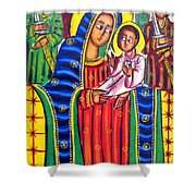 Ethiopian Mary And Jesus Shower Curtain