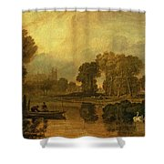 Eton College From The River Shower Curtain by Joseph Mallord William Turner