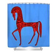 Etruscan Horse #2 Shower Curtain