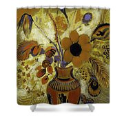 Etrusian Vase With Flowers Shower Curtain