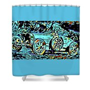 Ettore's Dream Cars Shower Curtain
