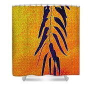 Eucalyptus Leaves Abstract Shower Curtain