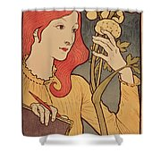 Eugene Grasset Shower Curtain