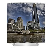 Eureka Tower-view From Cityside Shower Curtain