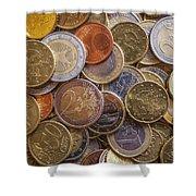Euro Coins Shower Curtain