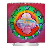 Euro Fishing Boat Shower Curtain
