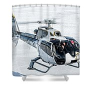 Eurocopter Ec130 With Fantastic Livery Shower Curtain
