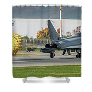 Eurofighter Typhoon 2000 With Parachute Shower Curtain
