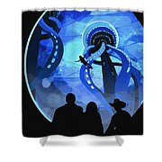 Europa Space Travel Shower Curtain