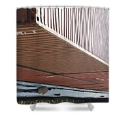 European Container On Barge Shower Curtain