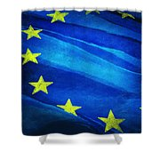 European Flag Shower Curtain
