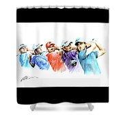 European Golf Champions Race 2017 Shower Curtain