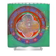 European Merry-go-round Shower Curtain