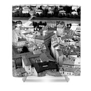 European Rooftops Shower Curtain