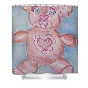 Ev Teddy Shower Curtain