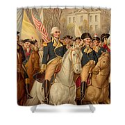 Evacuation Day And Washington's Triumphal Entry In New York City Shower Curtain