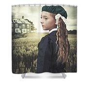 Evacuee Girl Shower Curtain