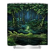 Evanescent Calling Shower Curtain