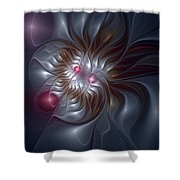 Evanescing Emanations Shower Curtain